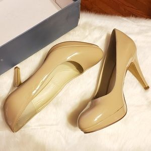Nickels Denny Nude Patent Leather Pumps/Heels